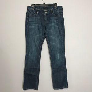 WHBM Rhinestone Straight Leg Superstar Jeans 14